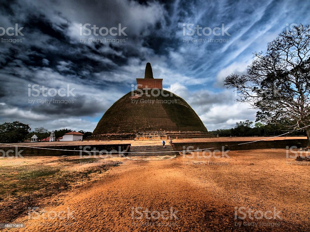 HDR de Abhayagiri Vihara, le bouddhisme monastère site d'Anuradhapura - Photo