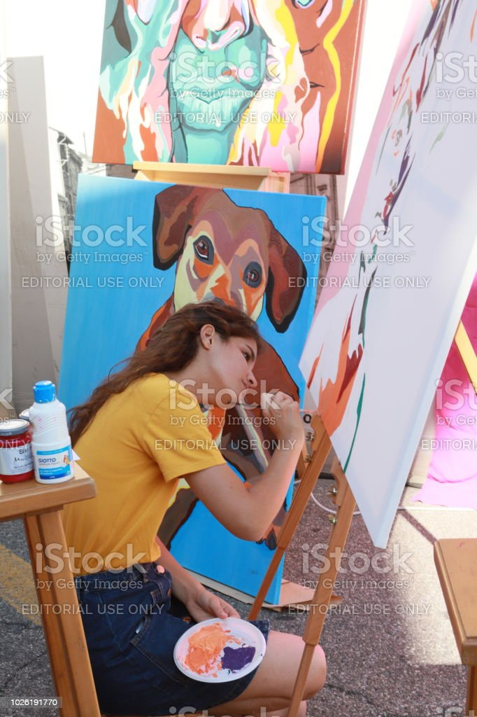 FESTIVAL of ARTISTS stock photo