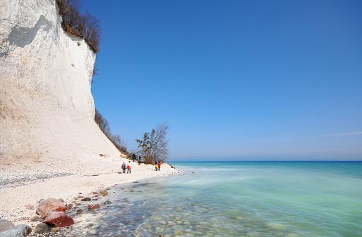 HDR of Baltic Sea Coastline Chalk Rock Insel Rügen (Germany)