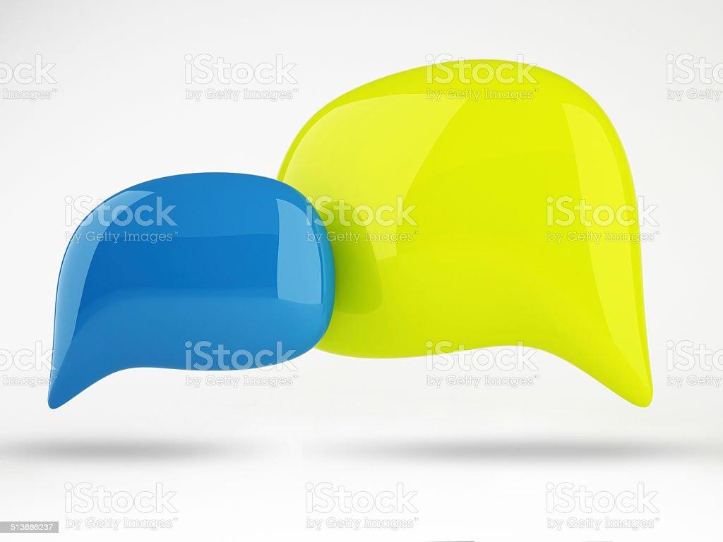 3D of Color Speech Bubbles Design 3D of Color Speech Bubbles Design Balloon Stock Photo
