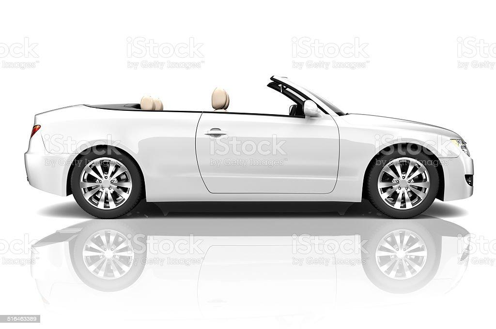 3D of Convertible Car stock photo