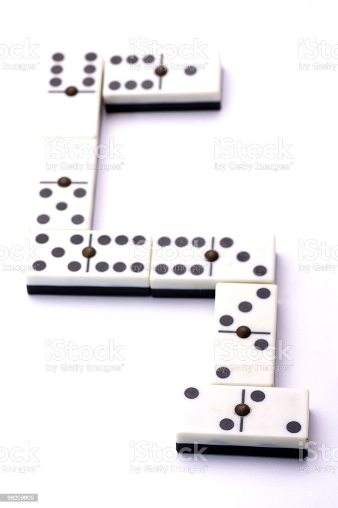 S di domino foto stock royalty-free