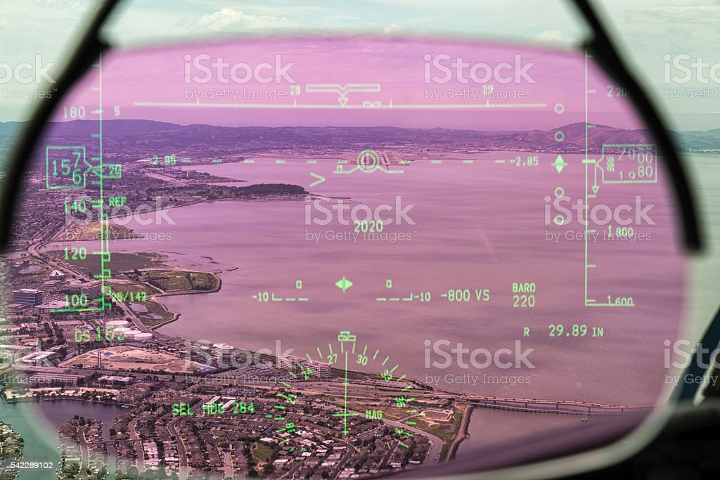 HUD of Dreamliner stock photo