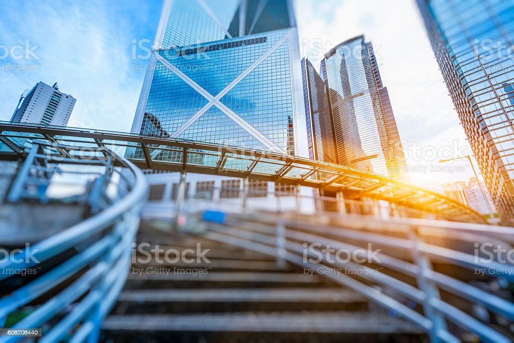 CBD of Hong Kong stock photo