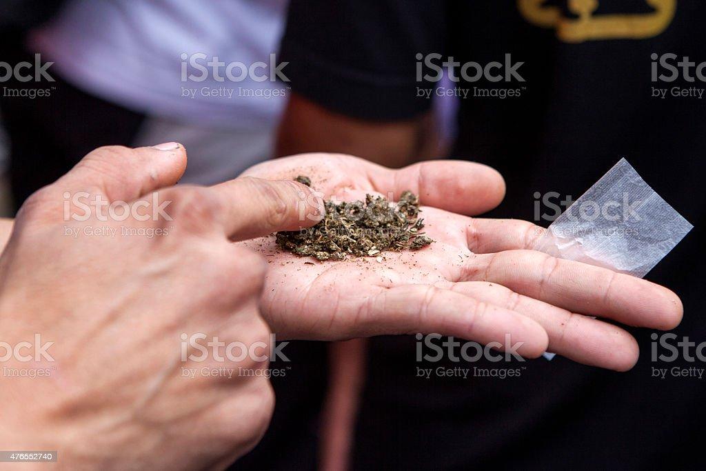 Of marijuana preparation stock photo