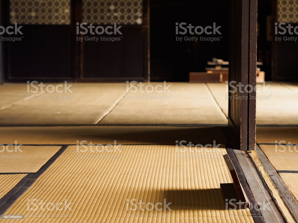 Of old houses tatami room ストックフォト