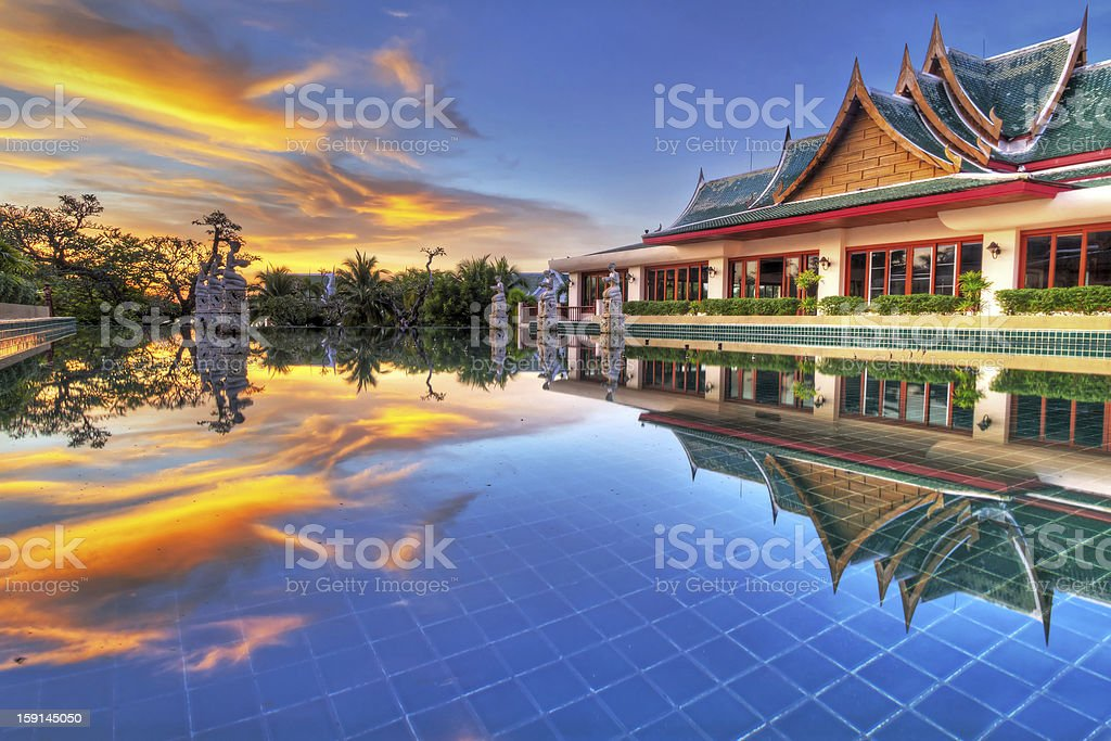 HDR of oriental style architecture in Thailand stock photo