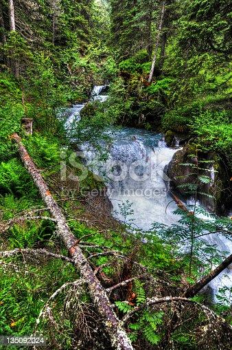 HDR of river landscape (Austria). Gerlosbach im Wildgerlostal. Part of Hohe Tauern National Park.