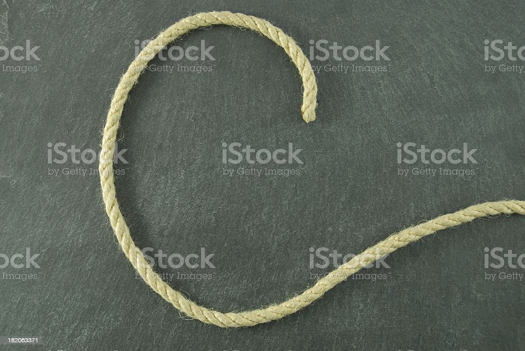 C of rope royalty-free stock photo