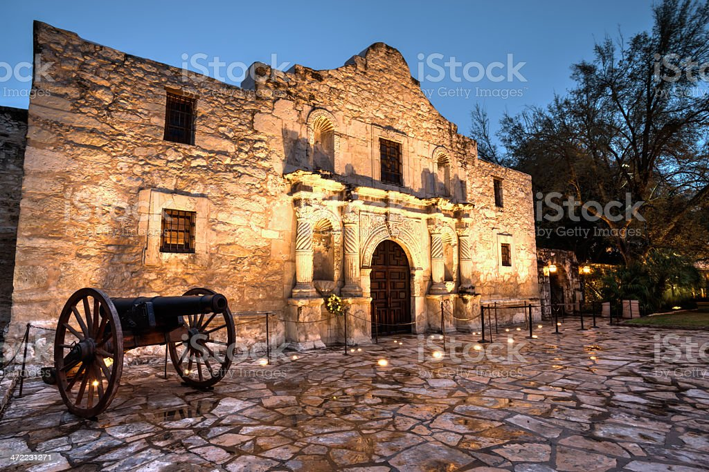 HDR of the Alamo stock photo