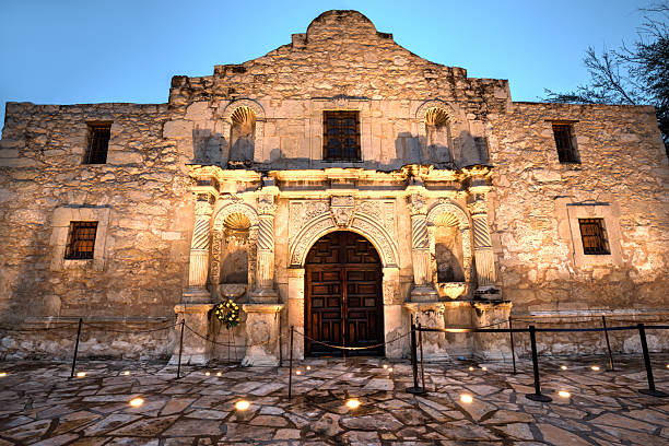 hdr of the alamo - the alamo stock photos and pictures
