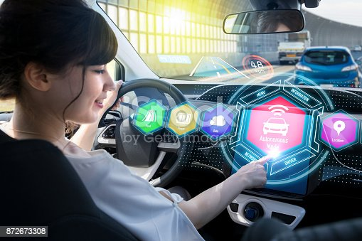istock HUD(Head up Display) of vehicle concept. 872673308