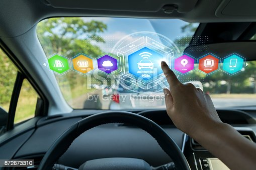 istock HUD(Head up Display) of vehicle concept. 872673310