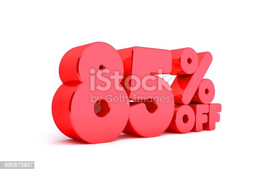 530872967 istock photo 85% Off 3D Render Red Word Isolated in White Background 530873937
