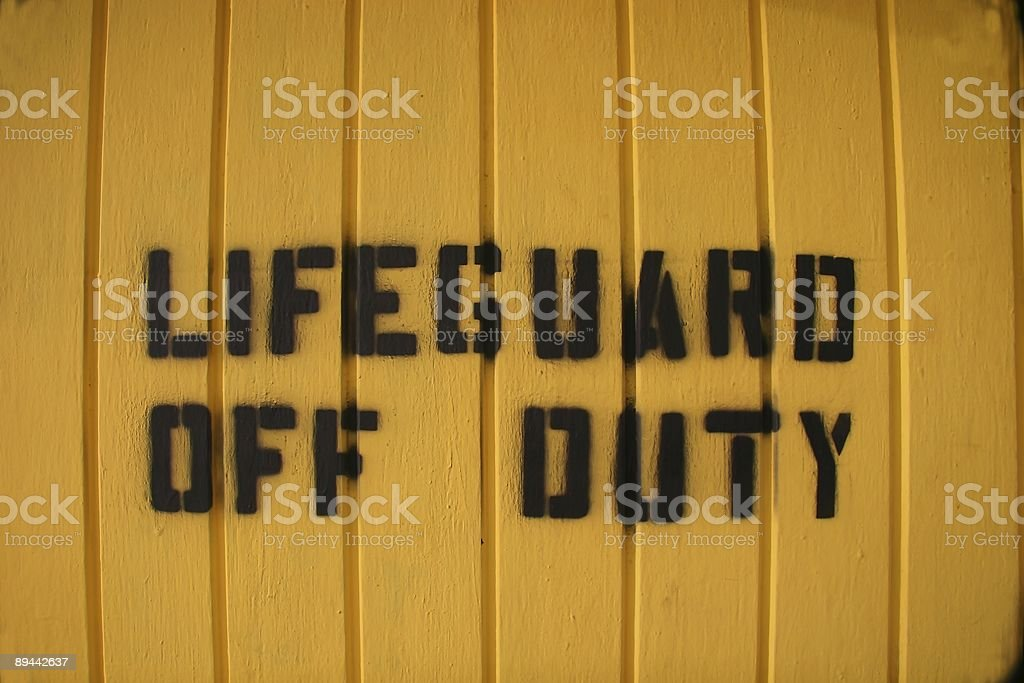 Off Duty Sign royalty-free stock photo