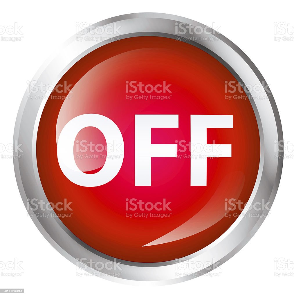 Off icon royalty-free stock photo