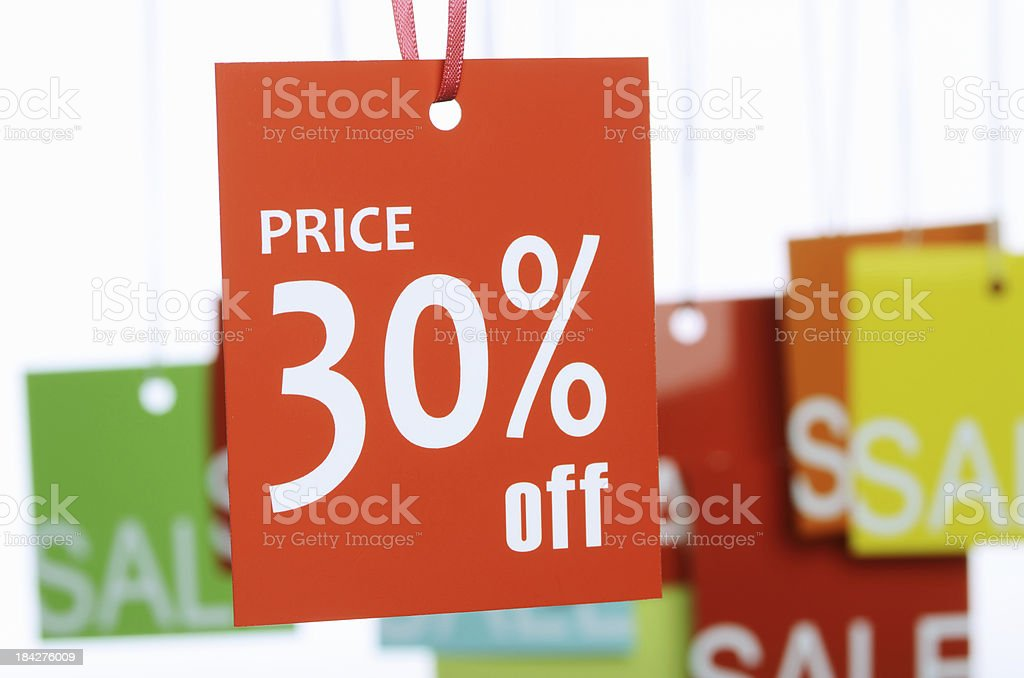 30% Off Label royalty-free stock photo