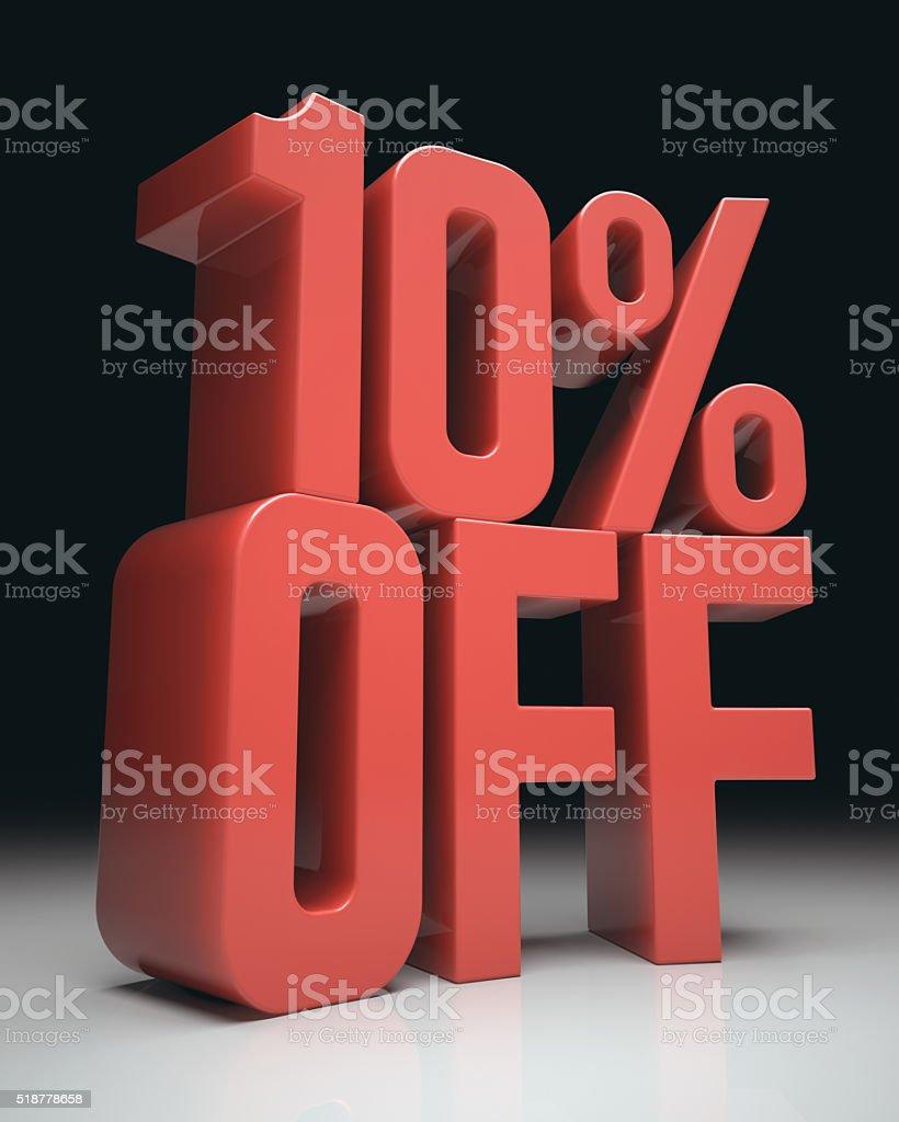 10% Off stock photo