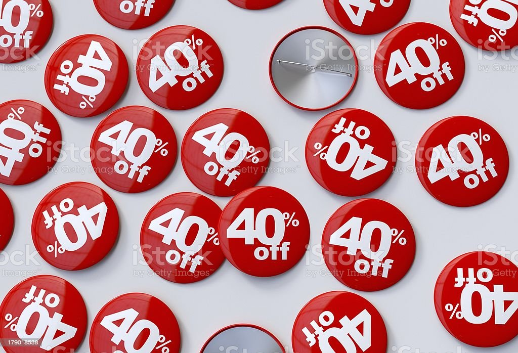 40% off Pins royalty-free stock photo