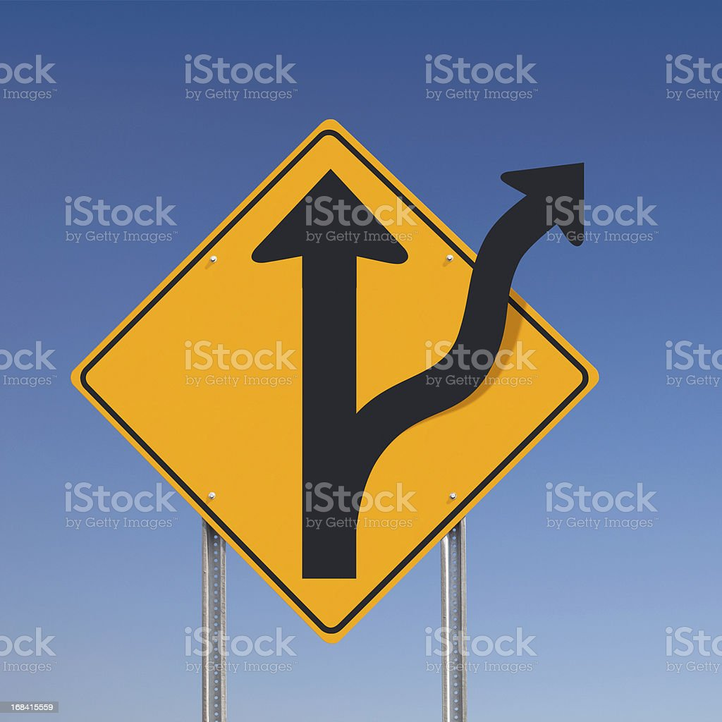 Off Road Adventure Traffic Sign Concept Over Blue Sky