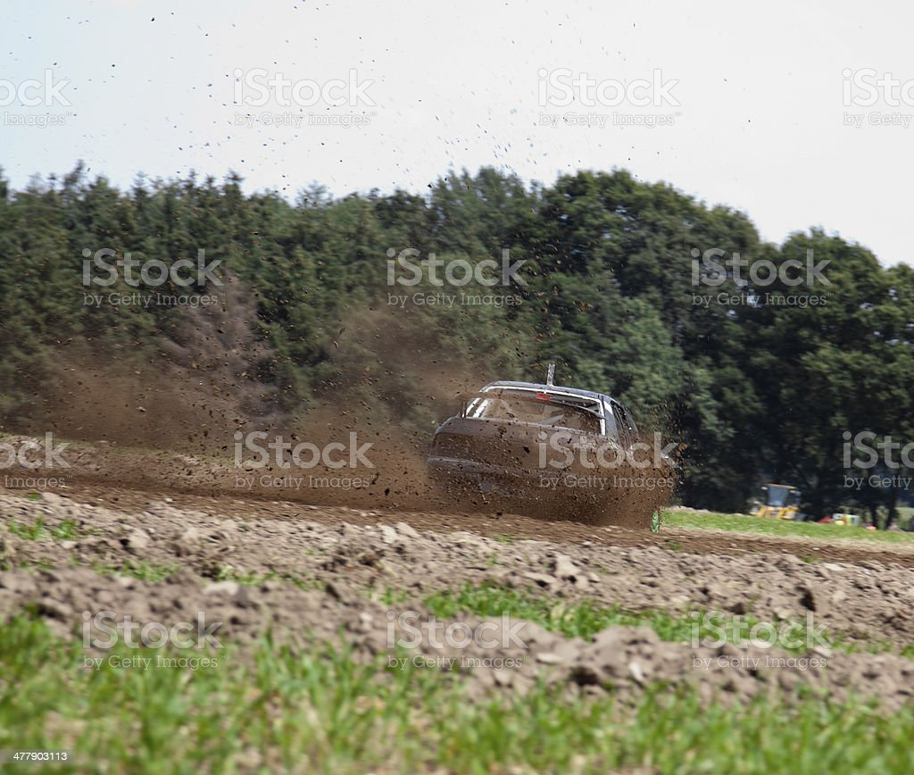 Off road car rally royalty-free stock photo