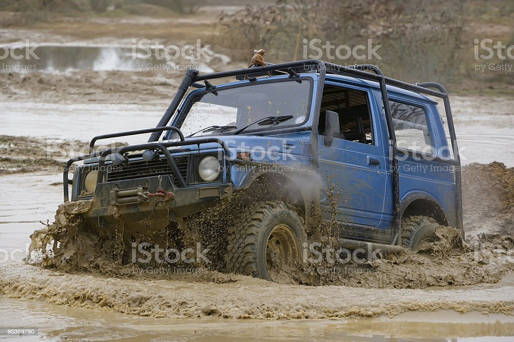 Off road driving stock photo