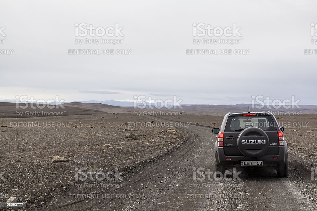 Off road driving with 4x4 royalty-free stock photo