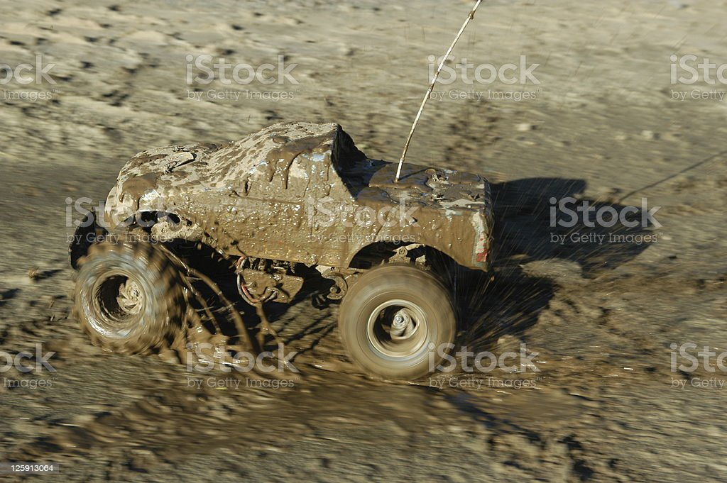 Off Road Rc Car in the mud. stock photo