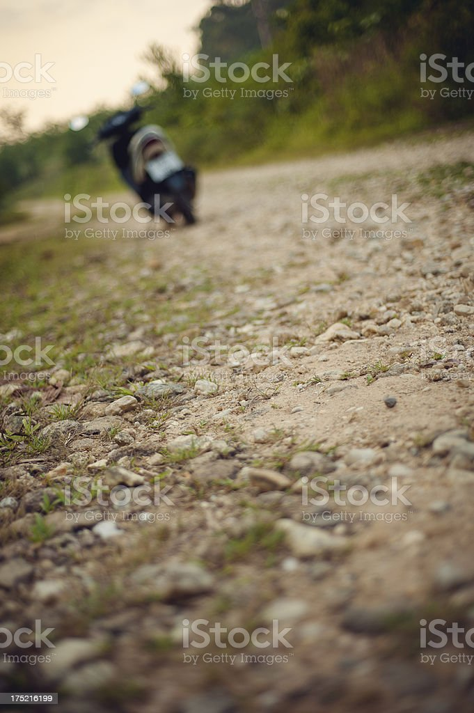 Off road scootering royalty-free stock photo