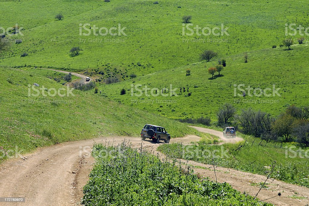 4X4 off road traveling royalty-free stock photo
