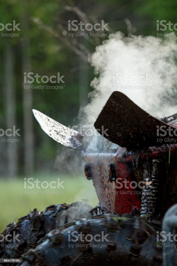 Off Road Vehicle Overheat Stock Photo - Download Image Now