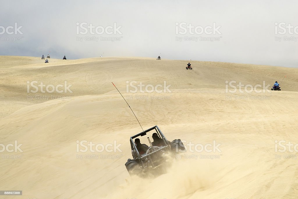 Off road vehicles at Pismo Beach Dunes.. royalty-free stock photo