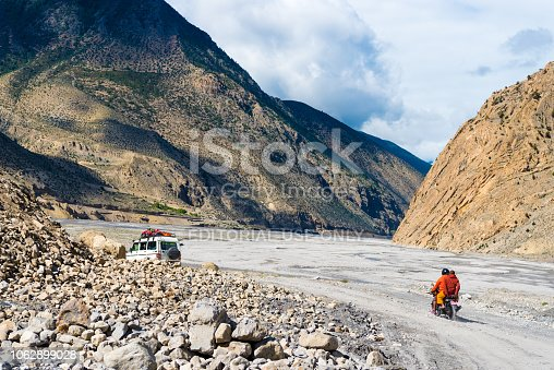 istock Off road vehicles with tourists in Jomsom, Mustang area, Nepal 1062899028
