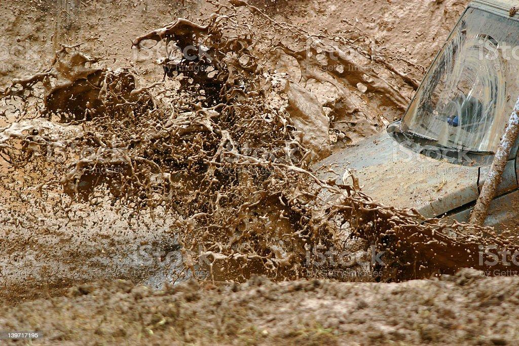 Off roading action, mud splash! royalty-free stock photo
