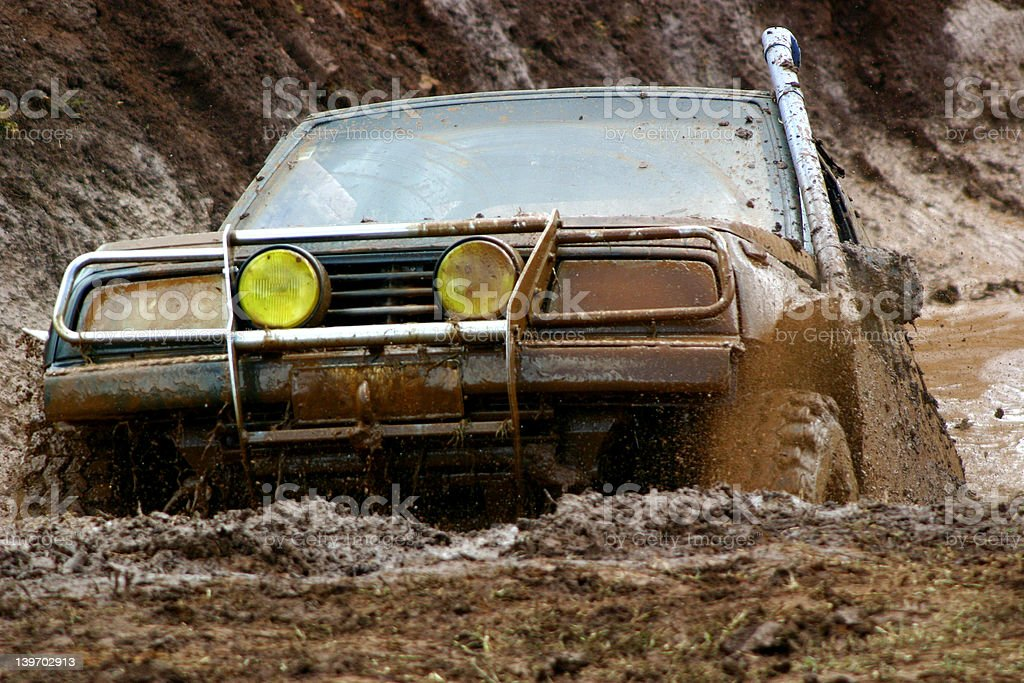 Off roading mud fun. royalty-free stock photo