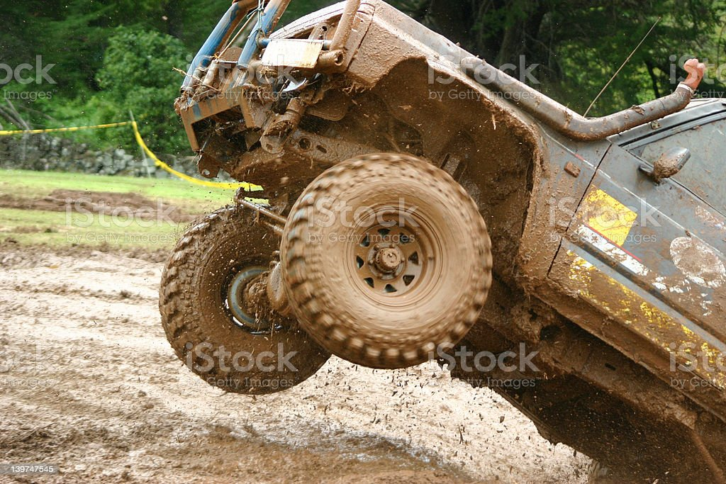 Off roading thrill! stock photo