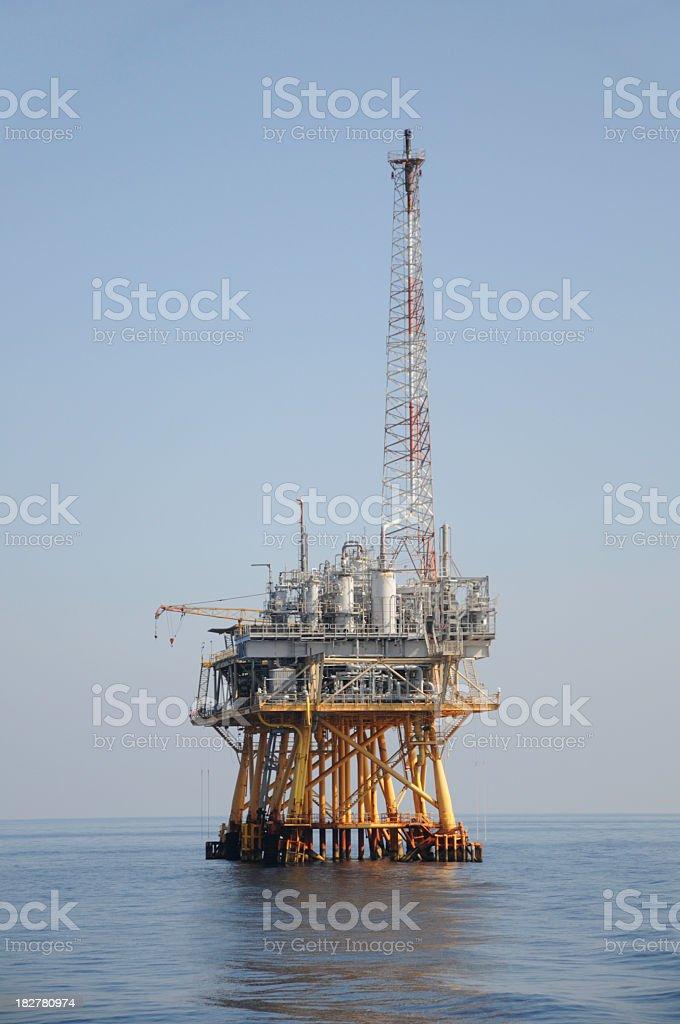 Off shore natural gas production platform royalty-free stock photo