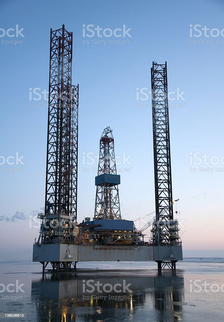 Off shore oil drilling Platform royalty-free stock photo
