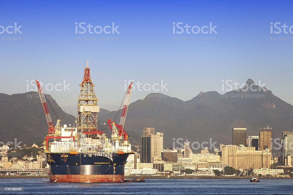 Off shore platform royalty-free stock photo