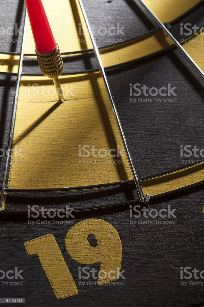 off target dart far from the center stock photo