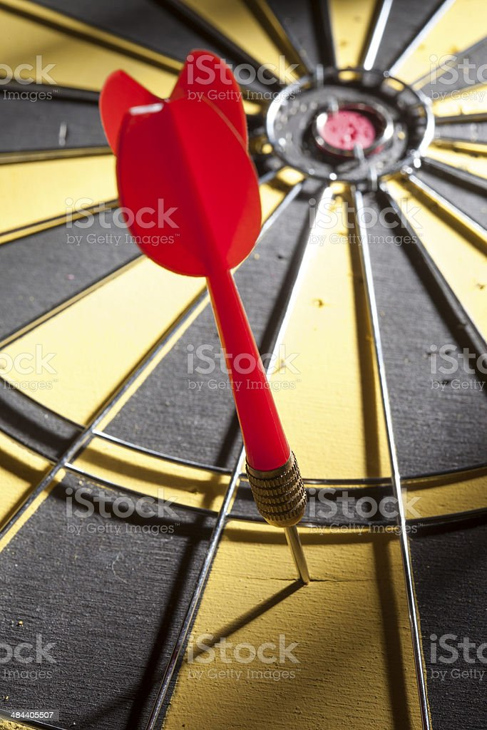 off target dart on dartboard stock photo
