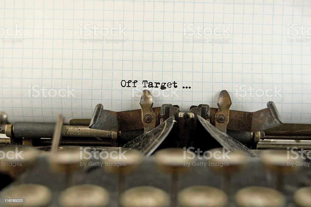 Off Target royalty-free stock photo