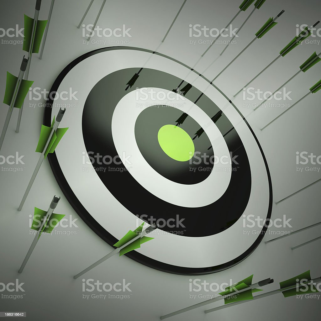 Off Target Shows To Miscalculate Skill stock photo