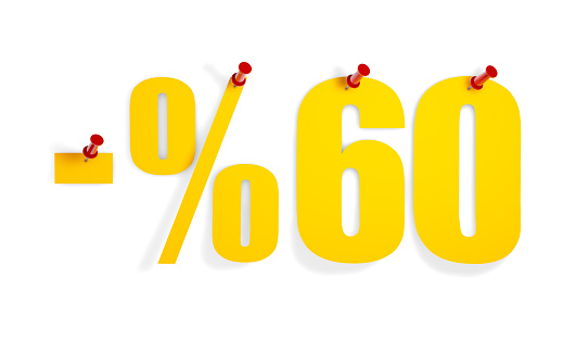 %60 Off Text on Pin Paper