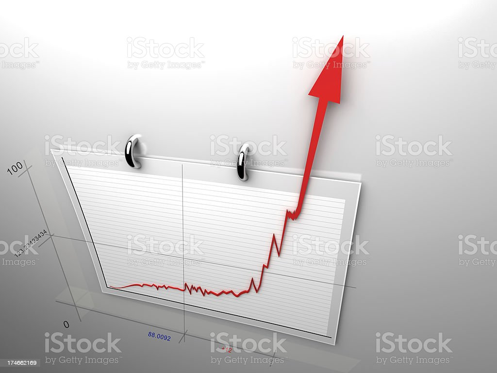 off the charts - Royalty-free Achievement Stock Photo