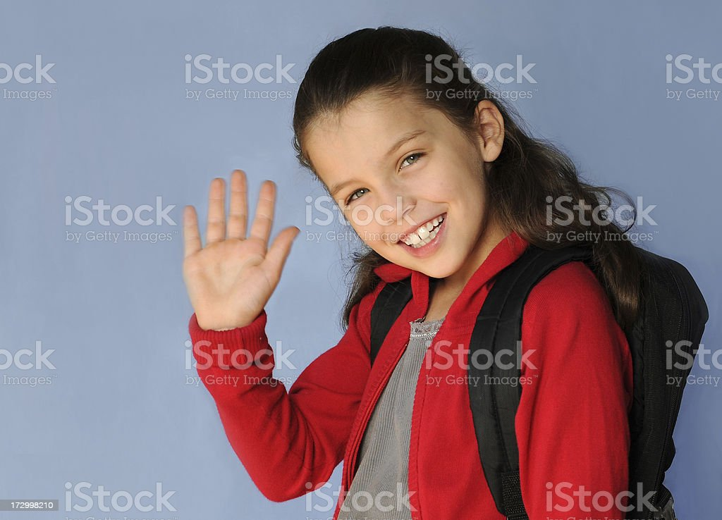 off to school royalty-free stock photo