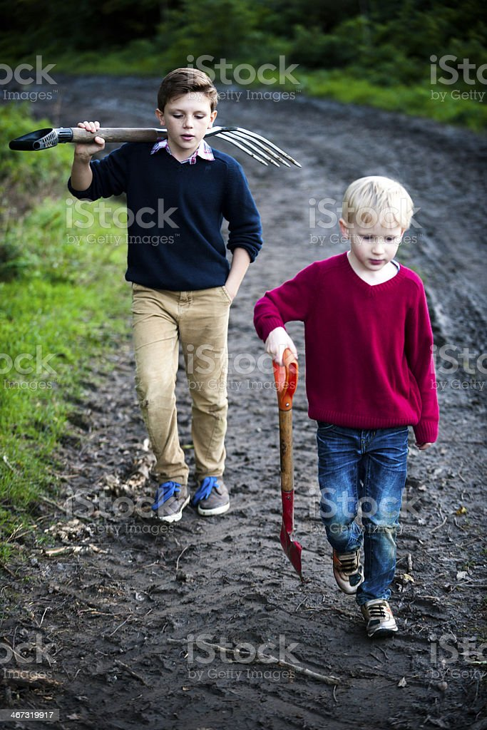 Off To The Farmlands royalty-free stock photo