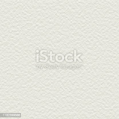 istock Off White Paper Watercolor Background with a Rough Course Texture Surface, very large format 1132599568