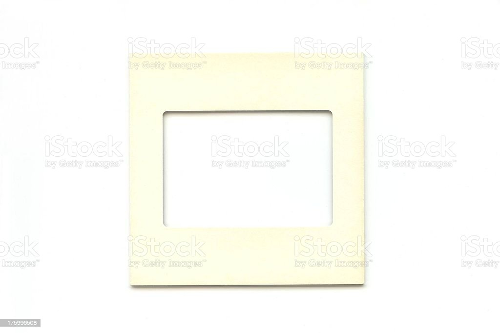 off white square outline frame royalty-free stock photo