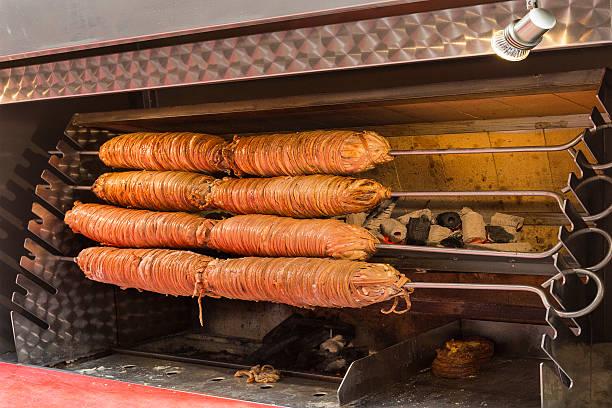 offal dish known as kokorec. - kokoreç bildbanksfoton och bilder